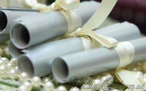 пригласительные на свадьбу в виде свертка