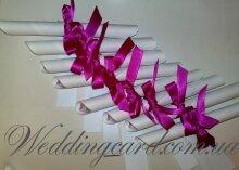 Пригласительное угловой свадебный свиток
